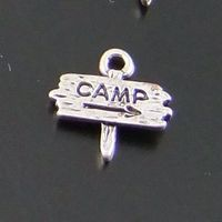 Whosesale Vintage Style Silver Tone Alloy Guidepost CAMP Pendants Charms 50PCS 01374