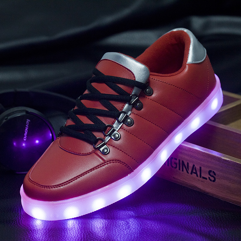 Led Shoes for Men Fashion Light Up Casual Shoes for Adults 7 Colors Outdoor Glowing Shoes Man Zapatillas Deportivas Size 39-44<br>