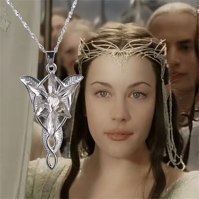 2015 Wholesale Lord Of The Rings Elf Princess Arwen Evenstar Pendant Alloy Evening Star Torque Movie