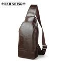 100% Guranteed Genuine Leather Men's Casual Mini Messenger Bag/waist