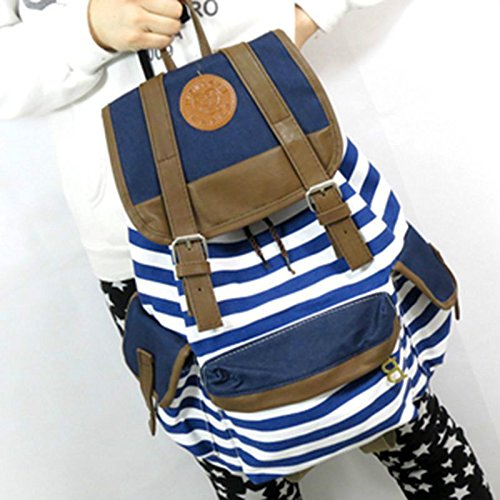 2015 SZS Hot Striped Travel Rucksack School Bag Tracking No. & A Exclusive Gift(China (Mainland))