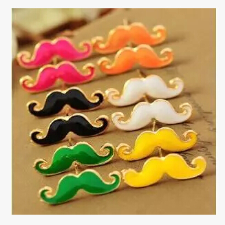 E125 Hot Fashion European and American Cute Sexy Vintage Drip Mustache Stud Earrings Small Jewelry Wholesale