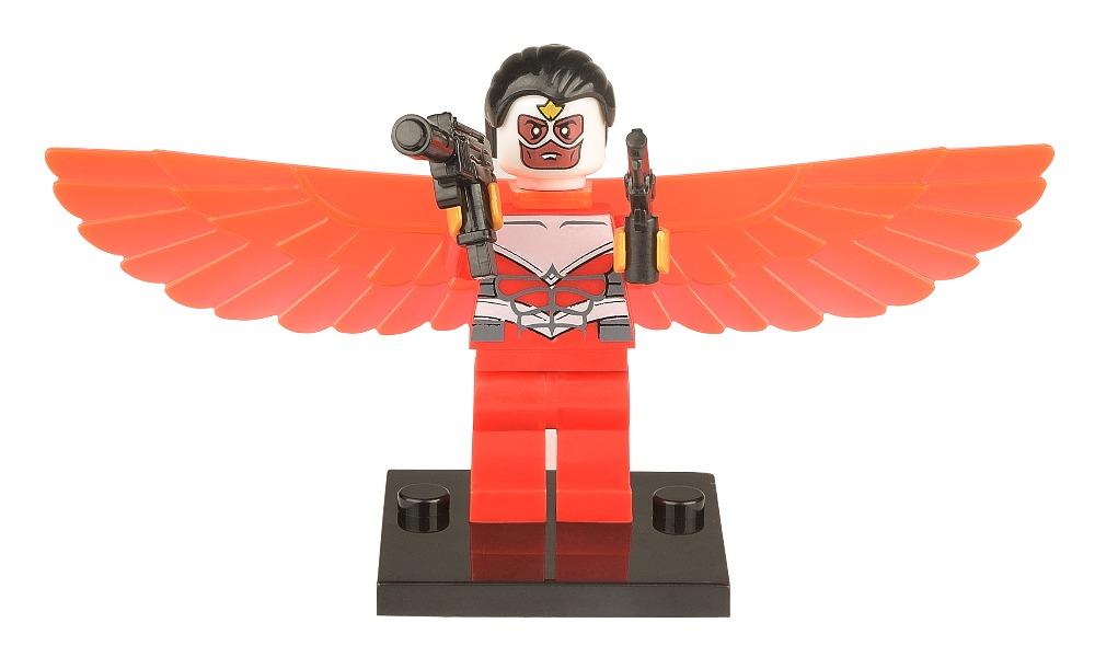 Single sale 100pcs/lot The Falcon 040 Minifigures Marvel Super Heroes The Avengers Building Block Sets Model Bricks Toys<br><br>Aliexpress