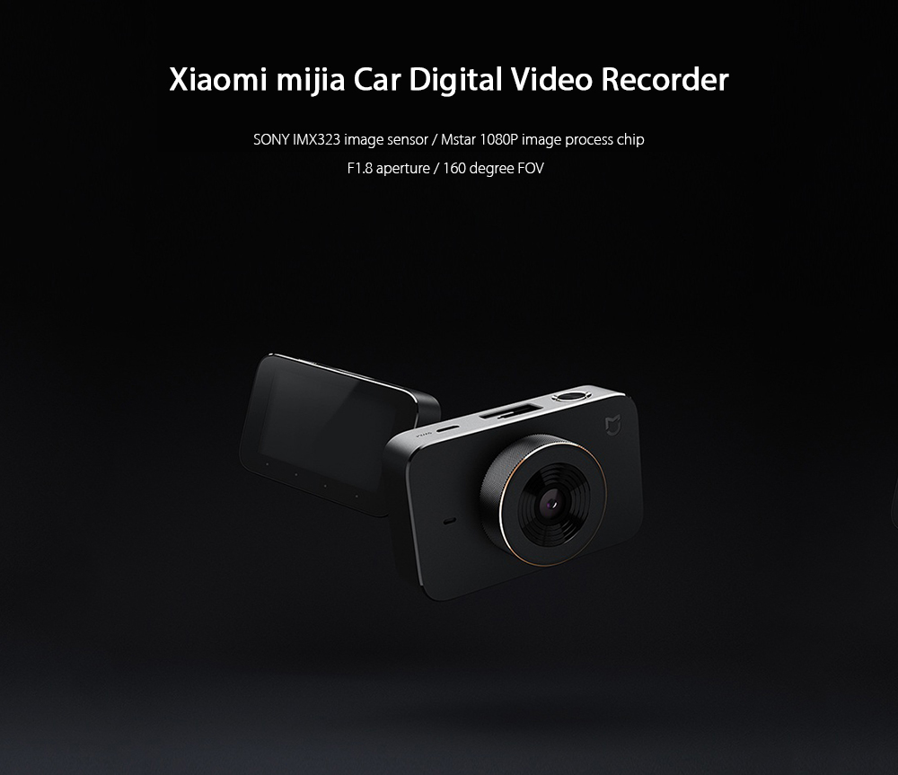 Xiaomi Mijia Carcorder Car Recorder F1.8 1080P 160 Degree Wide Angle 3 Inch HD Screen Car DVR Camera MI home APP Remote control