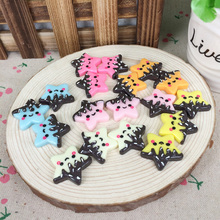 Mixed 6 Colors Kawaii Flatback DIY Resin Star Cabochon Flat Back Scrapbooking Embellishments Decoration For Hair Bow Center:27mm