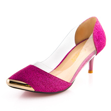 Hot sale! 2016 New Summer Women Shoes High Heels Metal Head Pointed Sexy Women Pumps party Wedding shoes For Women US Size4-11