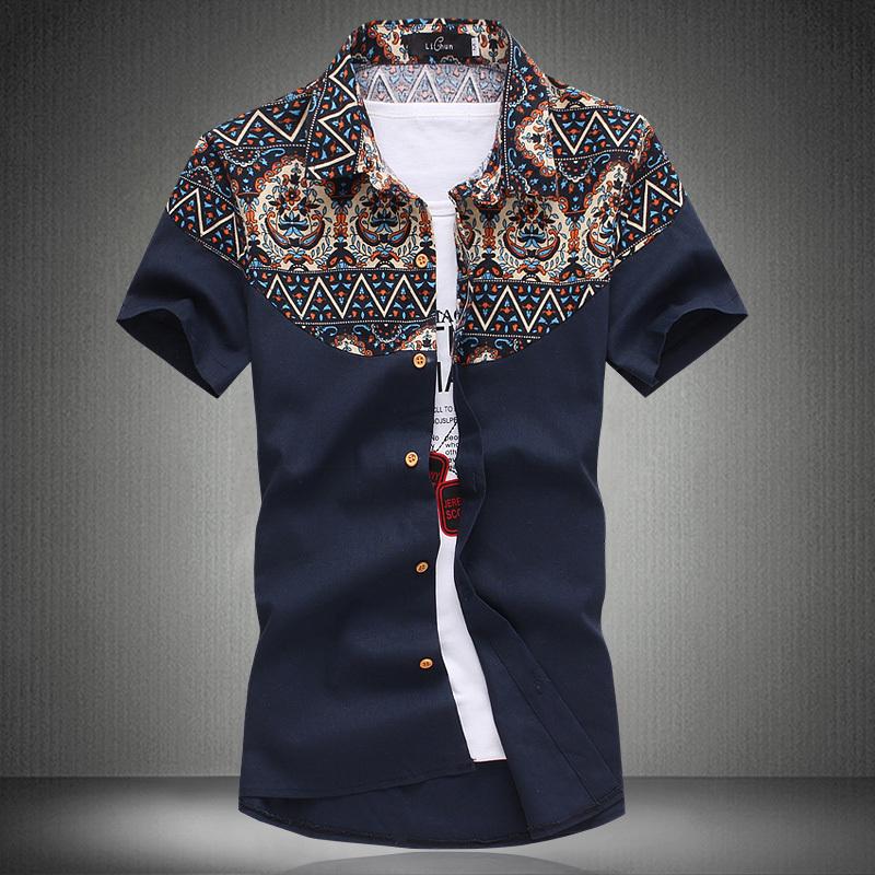 Free shipping brand cotton plus size 4xl 6xl XXXL 5XL mens shirts casual camisa masculina slim fit shirt jeans men yellow red Fr(China (Mainland))