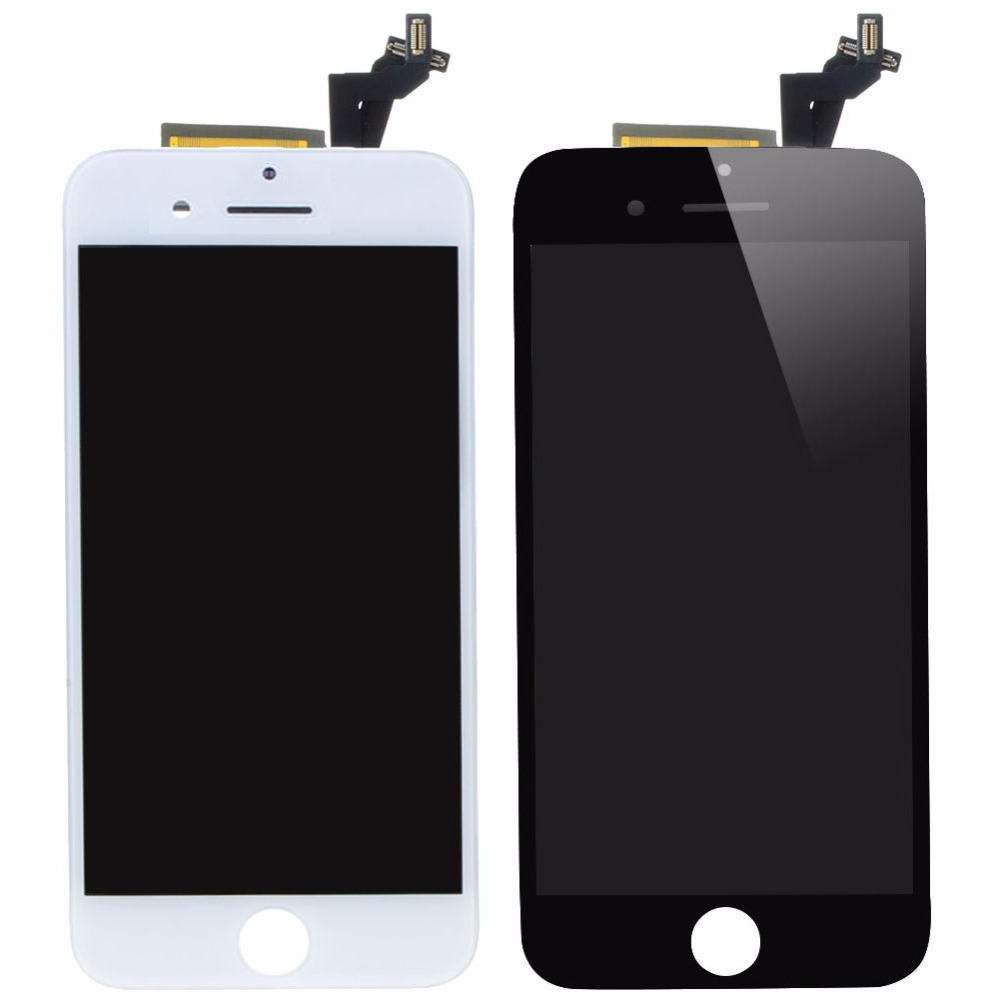 "Black White Touch Screen LCD Display Digitizer Assembly Replacement For Iphone 6 4.7""VAK52 T46 0.8(China (Mainland))"