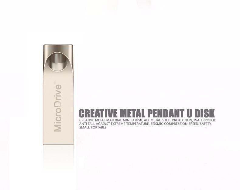 Silver Metal USB Flash Drive pen 64GB Waterproof Super quality USB 2.0 Pen Disk Memory Sticks 8GB/16GB/32GB 64GB(China (Mainland))