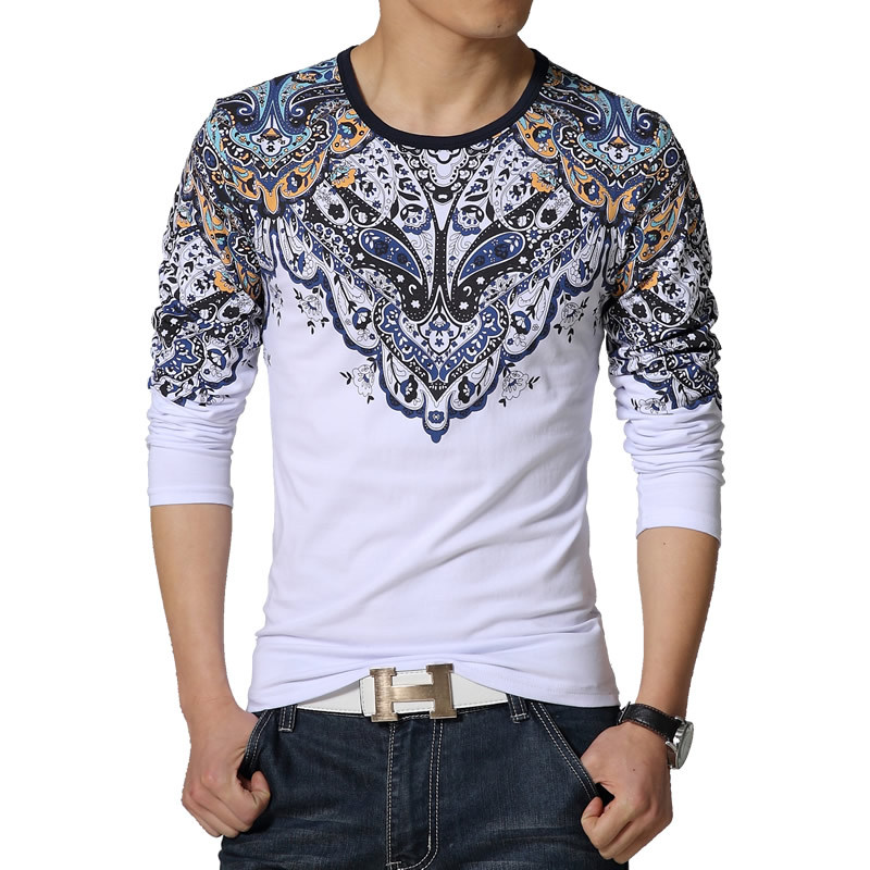Casual Fashion Printing T Shirt Men 2015 New High Quality