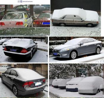 HOT SALE!!Silver Universal Light weight Car Cover Anti-Snow Sun Rain Dust Car Case Cover+ FREE SHIPPING