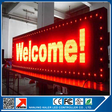 Free shipping CE approved outdoor programmable led screen 40*136cm led display p10 red programmable and scrolling led sign(China (Mainland))