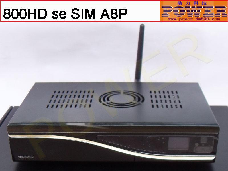 Free shipping original simA8P card bcm4505 sunray or dm 800 HD se dvb s2 digital satellite tv receiver with 300M wifi Enigma2(China (Mainland))