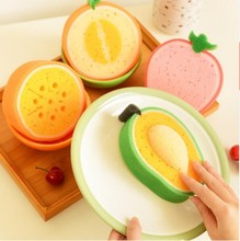 kitchen accessories Fruit strong microfiber sponge wipe microfiber Cleaning cloth cotton washing dishes Kitchen Tool