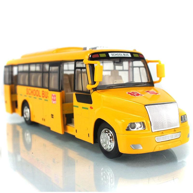 School Bus 1:32 Diecast Metal School Bus Acousto-optic Simulation Alloy Cars Pull Back Auto Collection Toys Brinquedo Menino(China (Mainland))