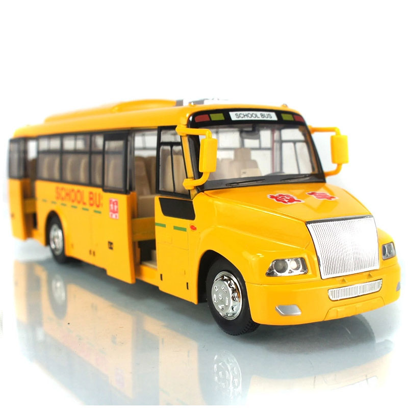 School Bus 1:32 Diecast Metal School Bus Acousto-optic Simulation Alloy Cars Pull Back Auto Collection Toys Brinquedo Menino(China (Mainland))