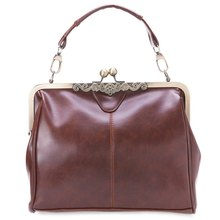 Spanish Casual Style PU Leather Tote Handbag Retro Bag With Shoulder Single Strap Girls New Style Bags Women Shoulder Bags(China (Mainland))