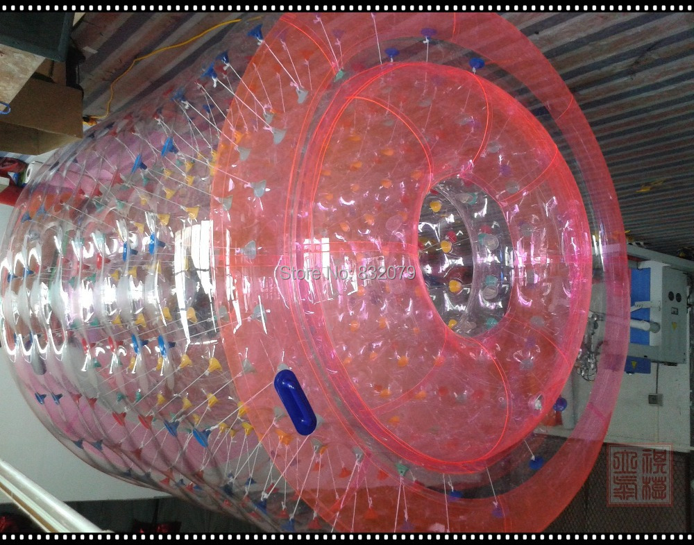 free shipping Best Selling 1.0mm 2.4M PVC HOT SALE Inflatable Water Roller from Direct Supplier(China (Mainland))