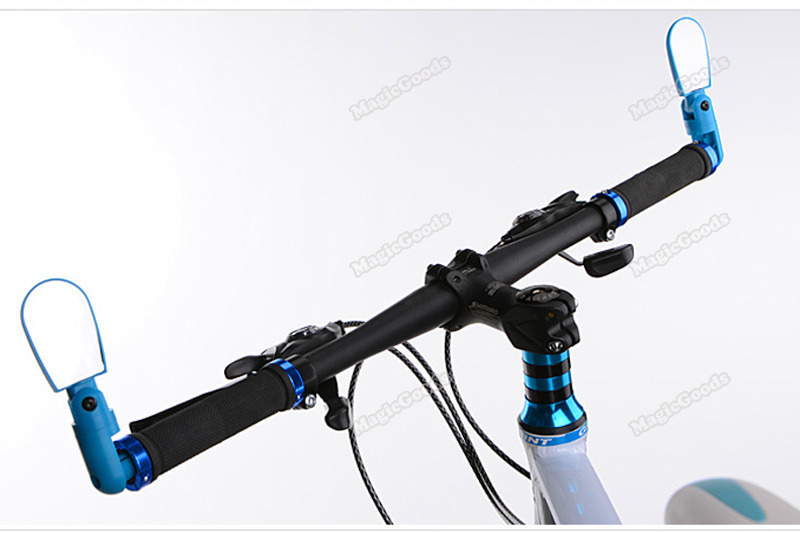4 Color Flexible Cycling Bike Bicycle Handlebar Bar End Mirror Rear View Glass