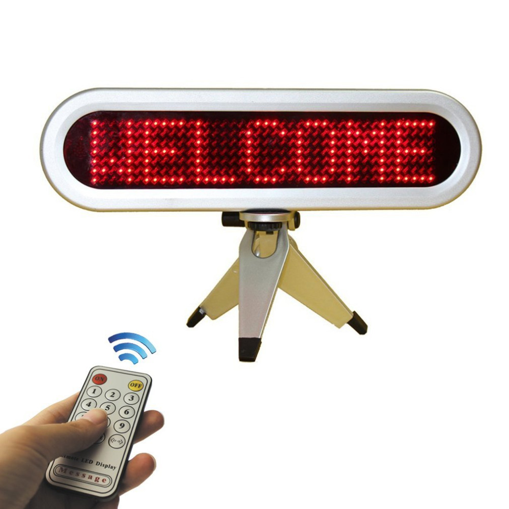 7x41 Pixels Led Scrolling Display Board Moving Red Message,Choose Message By Remote Controller<br>