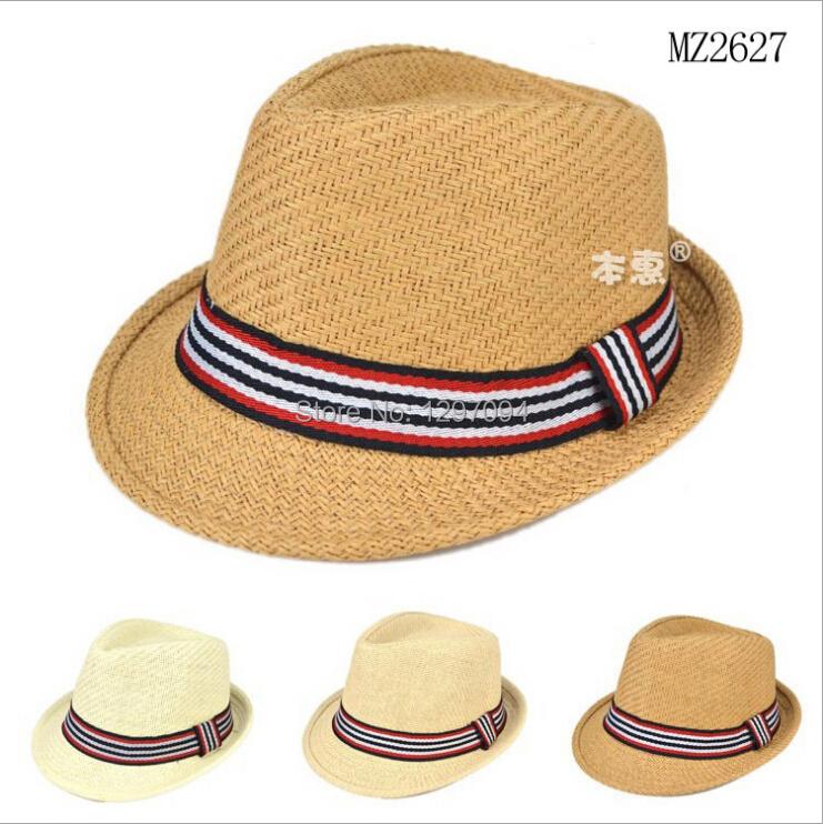 paper straw hats kids felt hat boys fedora children sun cap bowler hat chapeu boys jazz hut hoed sombrero cappello cowboy caps(China (Mainland))