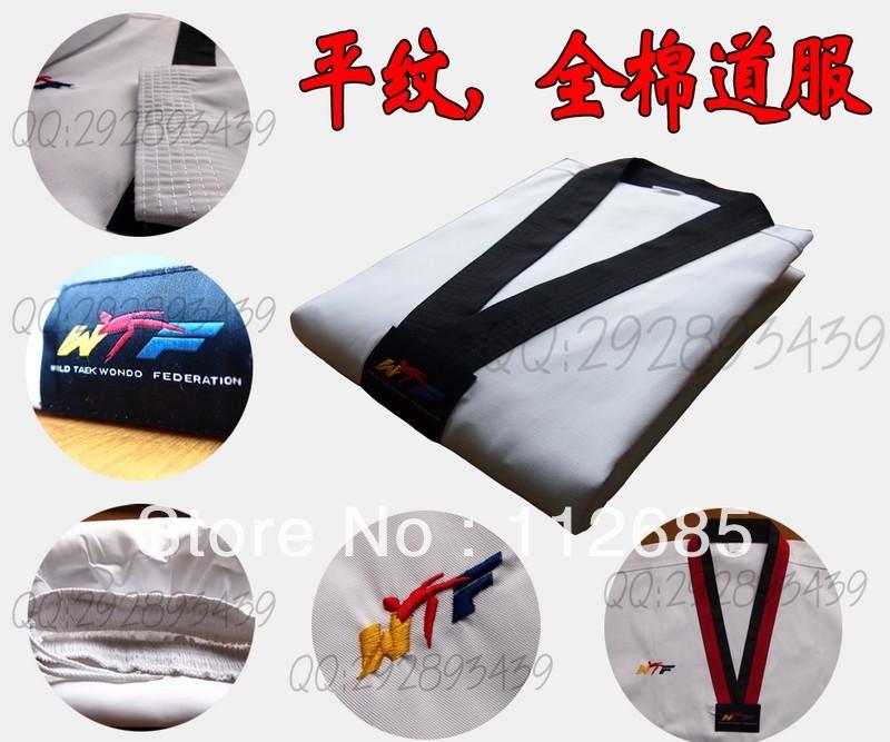[Marias] free shipping! high quality Wtf 100% cotton flat stripe tae kwon do thaiquan myfi child cotton 100% taekwondo myfi<br><br>Aliexpress