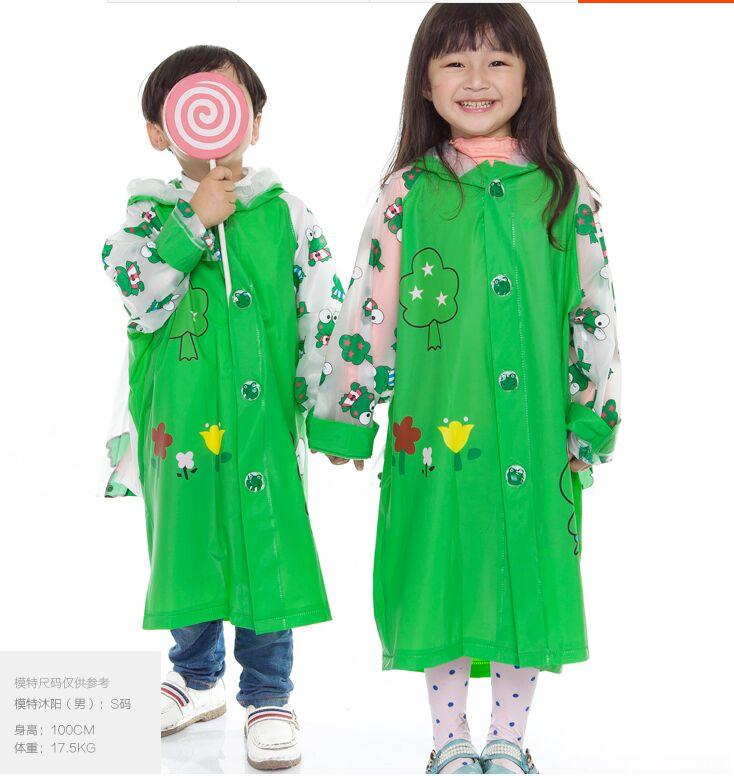 100% Original 2016 New Kids Rain Coat Children's Raincoat Rainwear Cartoon Poncho Rainsuit Outdoor Rainwear Waterproof Cartoon(China (Mainland))