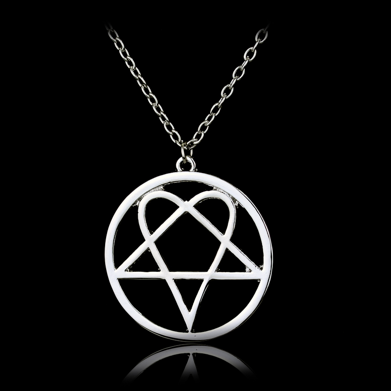 His Infernal Majesty Logo Necklaces Hot Music Band HIM Series Pendant Jewelry For Party Wedding Women and Men fans(China (Mainland))
