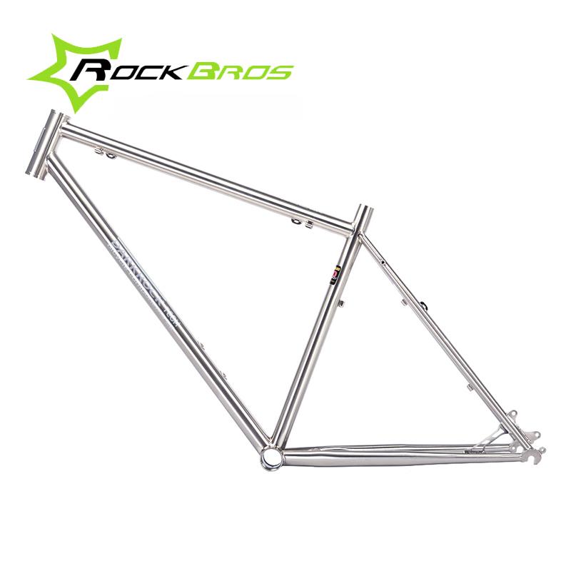 ROCKBROS Ultralight Mountain Bike Frame Bicycle Frameset Wire Drawing Reynolds 520 Quadro De Bicicleta 16-17 Inch (165-180cm)(China (Mainland))
