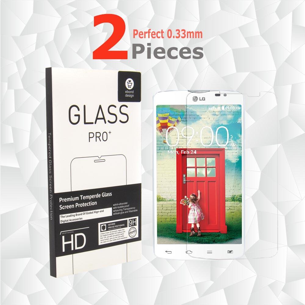 2Pcs/set Tempered Glass protective film to phone Pelicula de vidro Screen Protector For LG L80 Single Sim Protective Glass(China (Mainland))