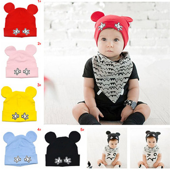 5colors Baby Girl Cotton Beanies Cartoon Designs Infant Kids Spring Autumn Hat Cap Boy Girl Hat 1pct MZC-15119