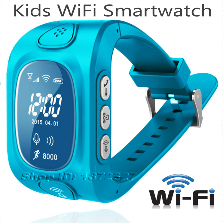 Kids Children WiFi Smartwatch SOS GPS Tracker Watch GSM SIM card Android IOS Bluetooth Anti Lost APP Remote Control Smartphone(China (Mainland))
