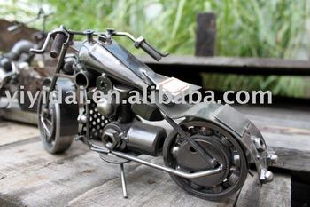 Free shipping New 100% Hand made Designer metal art motorcycle model whoesale Retail