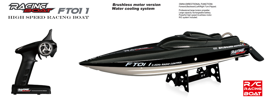 Fei Lun FT011 2.4G Racing RC Boat High Speed Brushless Motor Built-in Water Cooling System 4Channels Remote Control Speedboat(China (Mainland))