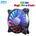 Pccooler Starry Sky 12cm computer pc case cooling fan quite RGB magic adjustable LED 120mm CPU