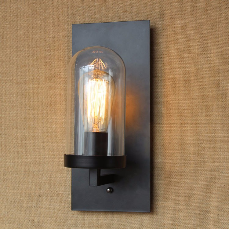 Vintage Sconce Lodge Retro Iron Wall Lamp Edison Light Industrial Lighting Fixtures, Cafe Bar Home Decor, 110V E26  or  220V E27 (7)