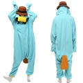 Perry the Platypus Kigurumi Pajamas Blue Nightgown Hot Halloween Cosplay Costume Adult Unisex Onesie Sleepwear