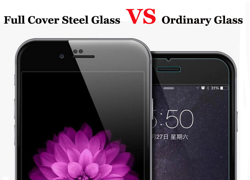 Full Cover Case Color Tempered Glass for iPhone 6 6S 4.7″ Explosion Proof Film For iPhone 6 6s Plus 5.5″ Screen Protector