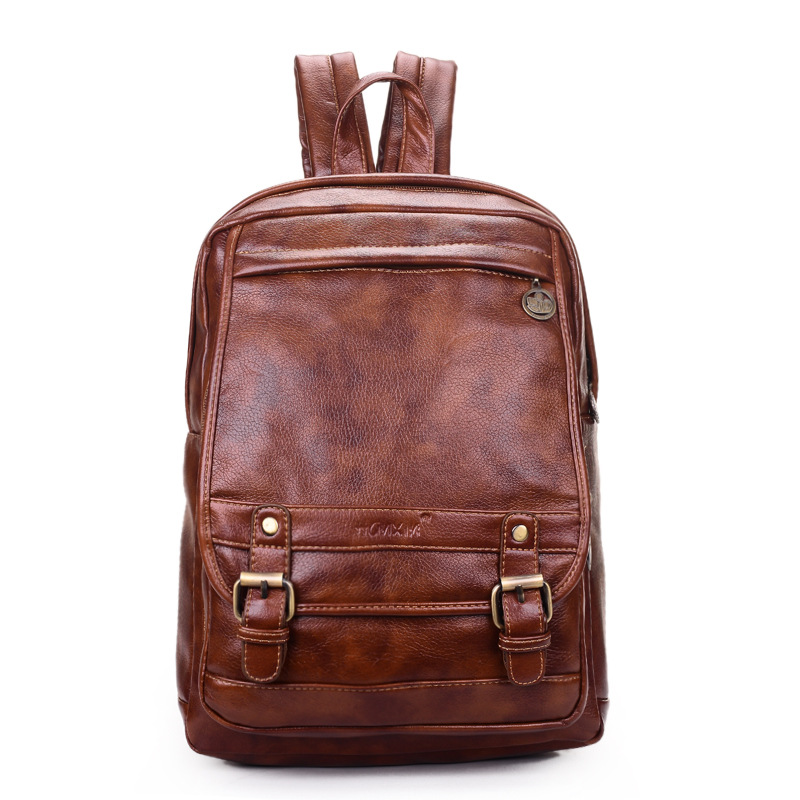 2015 New College Preppy Women Shoulder Bags Student Backpack Fashion Backpack Quality Leather Brown Women Backpack Vintage 2015
