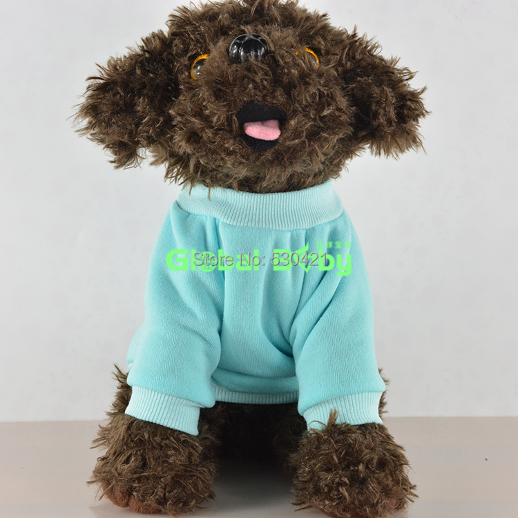 Free shipping New Arrival Solid Color Cotton Dog Hoodie pet Clothes Sweater(China (Mainland))