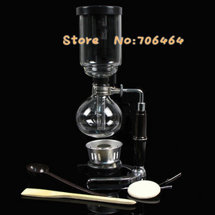 Vacuum Coffee Maker Single Cup : MBE05 5 cups Syphon coffee maker vacuum coffee brewer siphon coffee machine with stainless steel ...