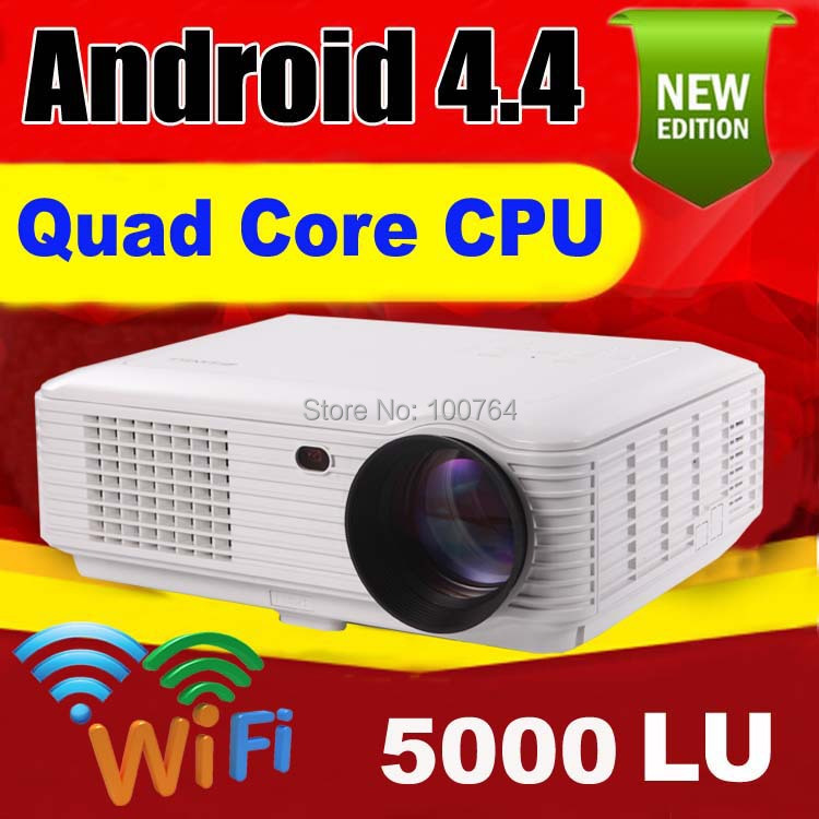 5000 lumens Android 4.2 1080P wifi led projector full hd 3d home theater lcd video proyector projektor tv screen projetor beamer(China (Mainland))