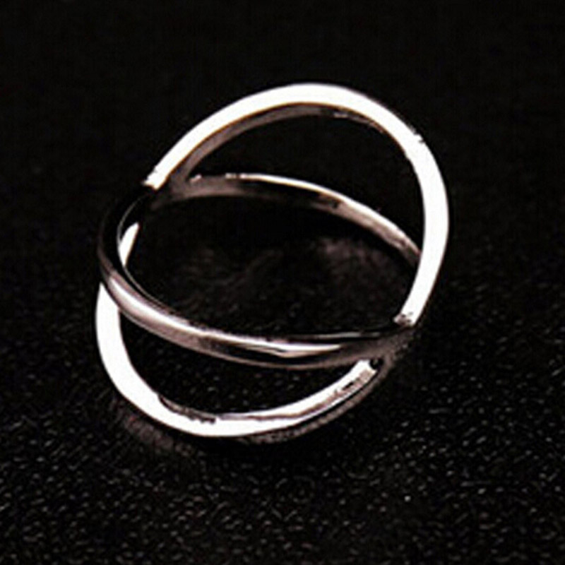 x shape wedding rings