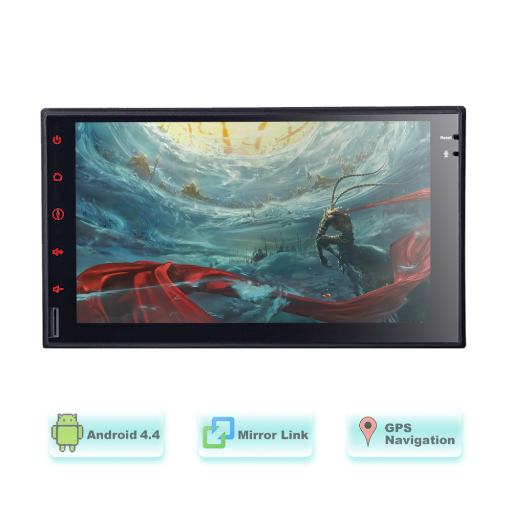 2016 android 4.4 Full - Touch car Tablet double 2 din GPS car stereo Radio VW / toyota / mazad car Audio No-DVD MP3 player()