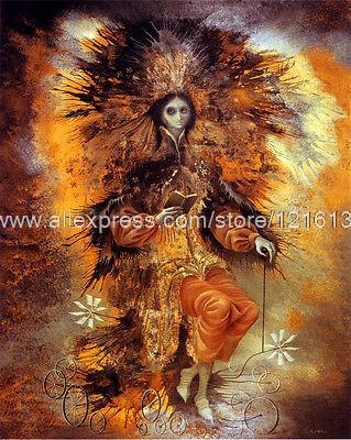 Remedios Varo The Sign Of The Painter Oil Hand Painted Canvas Wall Art Set Room Painting Designs Traditional Backgroun(China (Mainland))