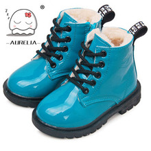 2015 new fashion Chaussure Enfant children martin boots girls boys winter shoes kids rain boots PU Leather Kids Sneakers(China (Mainland))