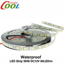 LED Strip 5050 DC12V Flexible LED Light 60LED/m 5m/Lot White / Warm White / Cold White / RGB 5050 LED Strip(China (Mainland))