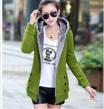 Hoodies Sweatshirts Autumn Winter Women Sport Suit 2016 Casual Long Sleeve Hooded Sweatshirts Plus Size Jacket Slim Ladies Coats(China (Mainland))