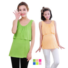 Modal Nursing Tank tops cheap breastfeeding vest clothes affordable maternity wear clothing for pregnant women pregnancy vest(China (Mainland))