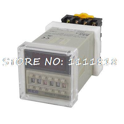 DH48S-S 4 Digits 0.1s-99h99m LCD Display Preset Time Delay Relay + Socket<br><br>Aliexpress